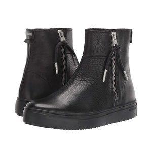 Blackstone SL86 Nero Black Zipper Ankle Boots 7 US